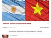 La presse argentine salue les réalisations économiques du Vietnam