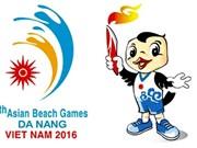 Cérémonie de lever du drapeau des 5es Jeux asiatiques de plage