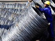 Bond des importations de fer et d'acier de Russie ces 8 derniers mois