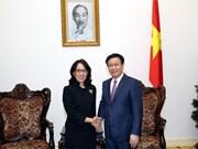Un vice-PM vietnamien reçoit la directrice générale de Central Group