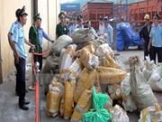 Saisie de deux tonnes de marchandises soupçonnées d'être des défenses d'éléphants