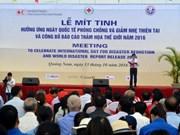 Meeting célébrant de la Journée internationale pour la prévention des catastrophes naturelles