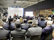Inauguration d'un espace d'exposition commerciale du Vietnam au centre Food City à Moscou