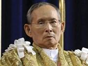 Hommage au roi Bhumibol Adulyadej à l'ambassade de Thaïlande à Hanoï