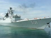Des navires de la Marine chinoise au port de Cam Ranh