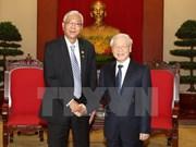 Le chef du PCV et le Premier ministre reçoivent le président du Myanmar