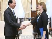Le président Trân Dai Quang reçoit l'ambassadrice d'Israël au Vietnam