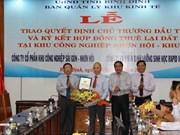 Binh Dinh: trois nouveaux projets de 570 milliards de dôngs autorisés