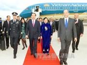 Le président Tran Dai Quang entame sa visite d'Etat en Italie