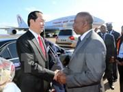 Le président Trân Dai Quang arrive à Madagascar pour le 16e sommet de la Francophonie