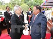 La visite d'amitié officielle du leader du PCV au Laos couronné de succès