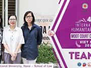 Le 4ème concours de plaidoirie en droit international humanitaire à Ho Chi Minh-Ville