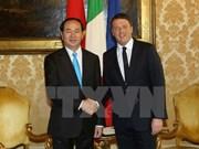 La visite d'Etat du président Trân Dai Quang en Italie couronnée de succès
