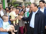 Le Premier ministre rend visite aux résidences sociales à Dang Xa