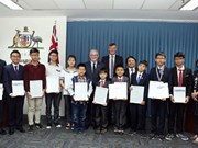 Des élèves vietnamiens honorés à l'ambassade d'Australie
