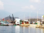 Construction du centre de pêche le plus moderne du Centre