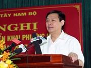 Nam Bo Occidental : 6,9% de croissance en 2016