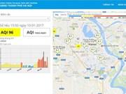 Hanoï inaugure un site sur la qualité de l'air et la pluviosité