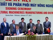 Vietnam et R. de Corée : coopération dans la production de machines agricoles