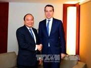 Activités du Premier ministre vietnamien au Forum économique mondial à Davos