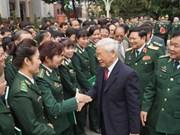 Têt : Nguyen Phu Trong formule ses vœux au Commandement des gardes-frontières