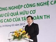 Mise en chantier d'un projet d'agriculture high-tech à Thai Binh