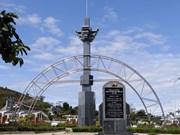 Reconstitution de vestiges sur la piste Hô Chi Minh