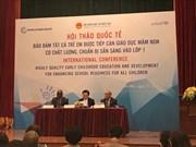 L'éducation préscolaire au cœur d'un colloque international à Hanoï