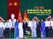 Vinh Long : Premier congrès de l'Association d'amitié Vietnam-Chine