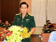 Echange entre les jeunes officiers vietnamiens et cambodgiens