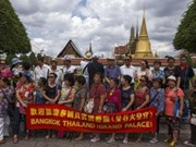 Bond du nombre de touristes étrangers en Thaïlande