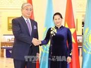 La présidente de l'AN est arrivée à Hanoï au terme de sa visite officielle au Kazakhstan