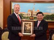 L'ambassadeur des Etats-Unis prend congé du dirigeant de HCM-Ville