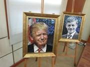 Des portraits en céramique des dirigeants économiques de l'APEC exposés à Hanoï