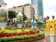Hô Chi Minh-Ville : la rue des fleurs Nguyen Hue célèbre le Nouvel An lunaire
