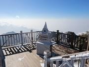 Le mont Fansipan à Sa Pa sous la neige