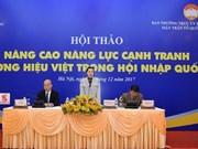 Amélioration de la compétitivité des marques vietnamiennes pour l'intégration internationale