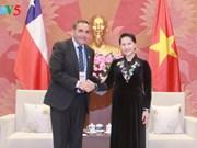 Nguyen Thi Kim Ngan reçoit des dirigeants parlementaires du Cambodge et du Chili