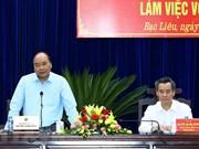 Nguyen Xuan Phuc en déplacement à Bac Lieu
