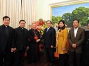 L'Archevêché de Hanoï adresse ses vœux du Nouvel an au Comité du Parti de Hanoï