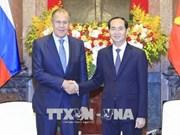 Le président Tran Dai Quang reçoit le ministre russe des Affaires étrangères