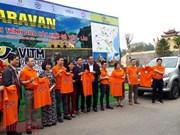 Lancement d'un circuit-caravane traversant sept localités vietnamiennes et laotiennes