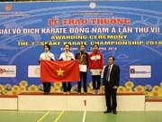 Karaté : le Vietnam termine en tête des 7es Championnats d'Asie du Sud-Est