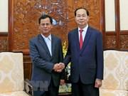 Le président Tran Dai Quang reçoit le vice-ministre laotien de la Sécurité publique