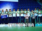 Volley-ball masculin : le Vietnam occupe la 3e place de la coupe LienVietPostBank 2018
