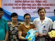 Le Vietnam réussit à nourrir un nouveau-né extrêmement prématuré