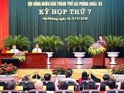 La 7e session du XVème mandat du Conseil populaire de Hai Phong
