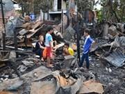 Soutien aux victimes de l'incendie à Phnom Penh (Cambodge)