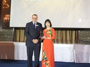 """Vietcombank reçoit le prix """"Mobile Banking Initiative of the Year''"""