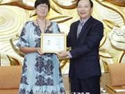 Mme l'ambassadeur de Belgique au Vietnam à l'honneur